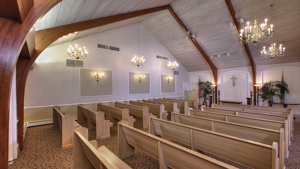 Funeral Options - Photo of the chapel ast Chandler Funeral Home in Wilmington, Delaware