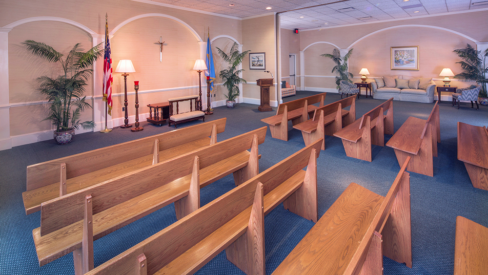 Photo of chapel in Chandler Funeral Home at Hockessin, Delaware